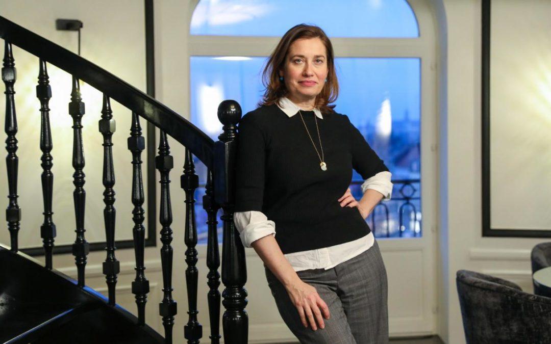 Emmanuelle Devos en tournage en Occitanie